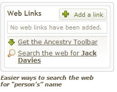 "Easier ways to search the web for ""persons"" name"