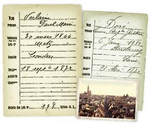 Collection des « Optants » d'Alsace-Lorraine de 1872 - Exemple de documents