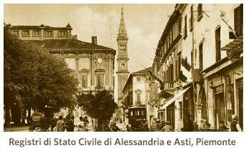 Registri di Stato Civile di Alessandria e Asti, Piemonte