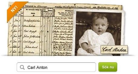 Sök uppgifter om dina förfäders födelse