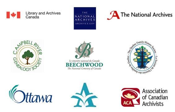 Image of Ancestry.ca Canada Partners Logos