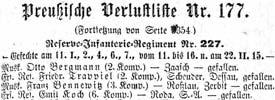 Verlustlisten der Deutschen Armeen im Ersten Weltkrieg, 1914-1917