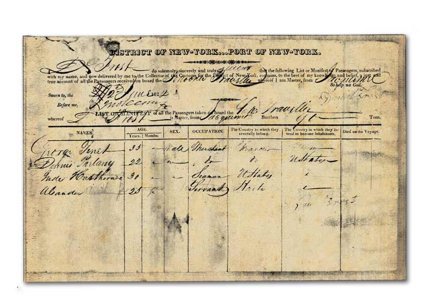 Documents d'immigration des États-Unis