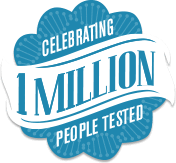 celebrating 1 million people tested