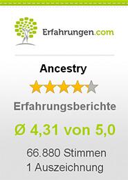 Erfahrungen.com Ancestry Erfahrungsberichte 4,31 von 5,0