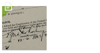 See the signature on your father's first passport