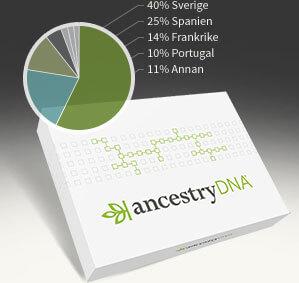 40% Sverige, 25% Spanien, 14% Frankrike, 10% Portugal, 11% Annan