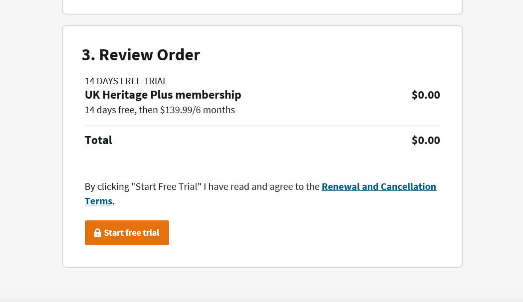 how to cancel ancestry free trial