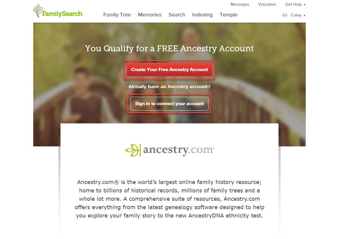 Search billions of records on ancestry com - My Account Options