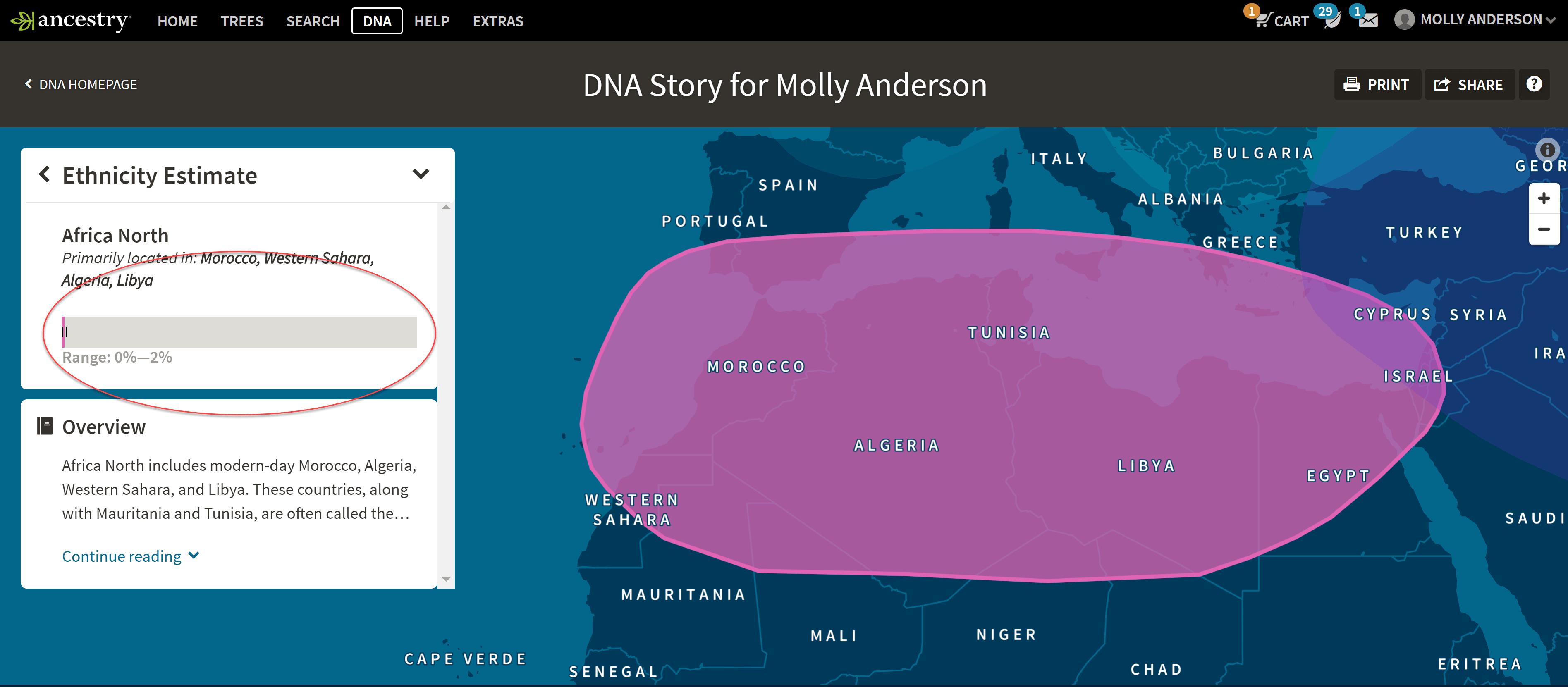 AncestryDNA Ethnicity