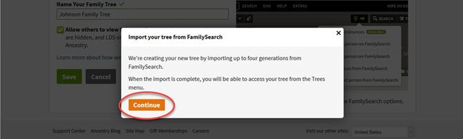 FamilySearch Integration on Ancestry®