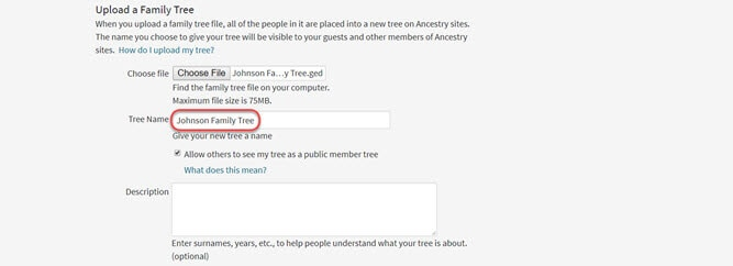 Uploading and Downloading Trees