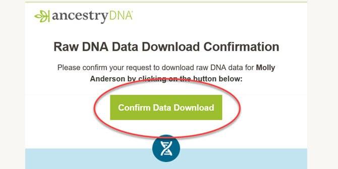 downloading raw dna data