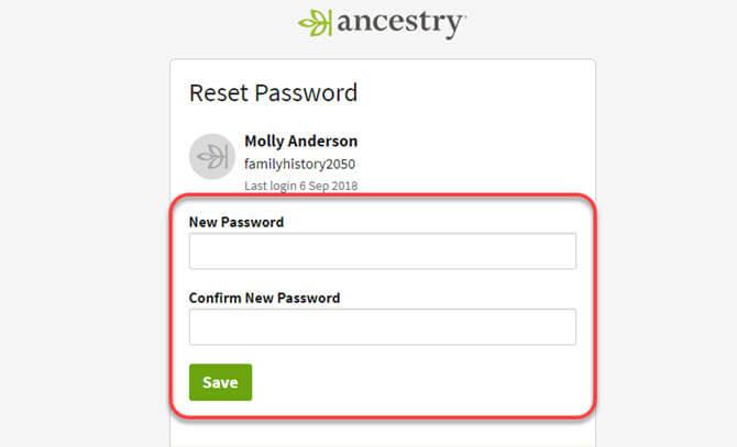 Resetting A Forgotten Password