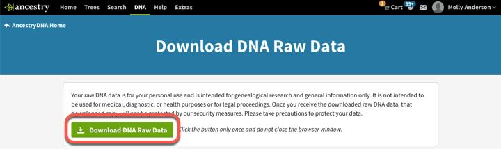 Downloading AncestryDNA® Raw Data