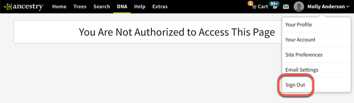 You Are Not Authorized to Access This Page