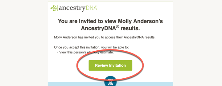Accepting an AncestryDNA® Invitation