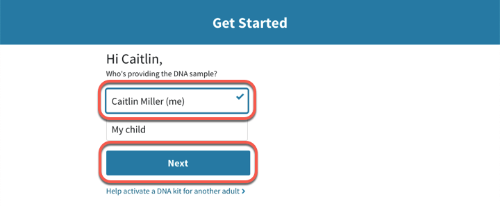 Activating an AncestryDNA® Kit