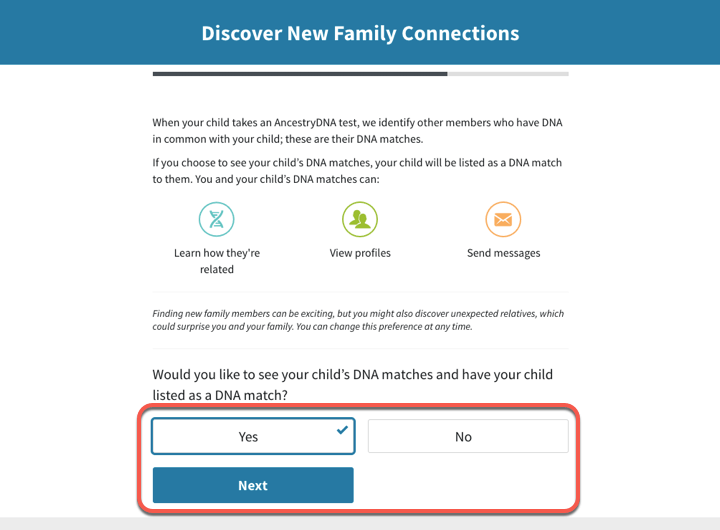 Activating an AncestryDNA® Kit for Your Child