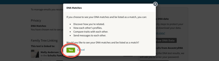 Choosing not to be Listed as an AncestryDNA® Match